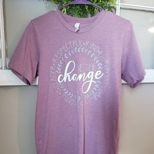 Be the Change tee tshirt sz S womens